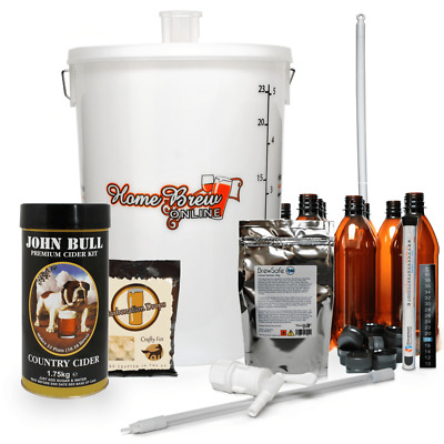 Complete John Bull Home Brew Making Starter Kit Pack Gift 40 Pints - CIDER • 68.95£