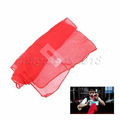 £1.98 • Buy Magic Tricks Funny Silk Scarf Through Phone Red Magicians  Close Up Stage Props