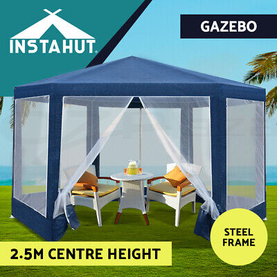 AU99.90 • Buy Instahut Gazebo Wedding Party Marquee Tent Canopy Outdoor Camping Gazebos Navy
