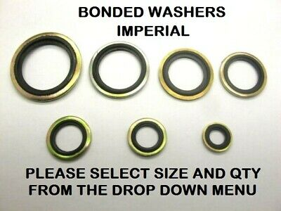 £2.09 • Buy Bonded Seal Washers IMPERIAL- Dowty Sealing Washer Sealing Sizes 1/8  - 1  BSP