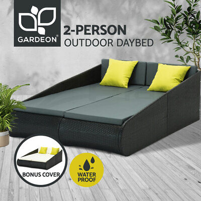 AU442.95 • Buy Gardeon Outdoor Sun Lounge Day Bed Wicker Furniture Rattan Sofa Garden Pool