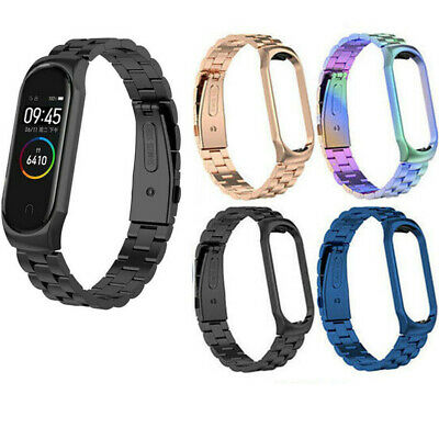 $6.99 • Buy Stainless Steel Metal Wrist Watch Band Bracelet Strap For Xiaomi Mi Band 3 4 US
