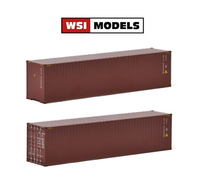 WSI 04-1171 40ft Shipping Container Load Plain Brown 1:50 Scale • 30.99£