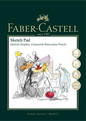 #792614 Faber Castell A3 Sketch Pad 160gsm 40 Pages Sheets Drawing Art Artist • 9.35£