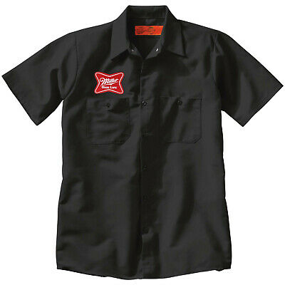 $33 • Buy MILLER BEER Embroidered PATCH +Delivery Man Uniform WORK SHIRT Breweriana