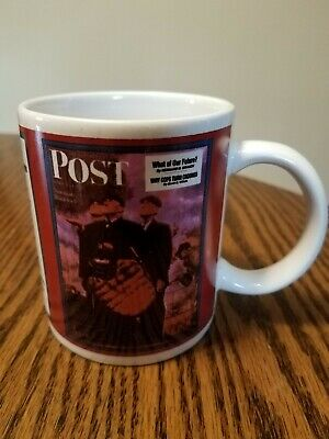 $ CDN6.59 • Buy Norman Rockwell Coffee Cup Mug The Saturday Evening Post Baseball Umpires