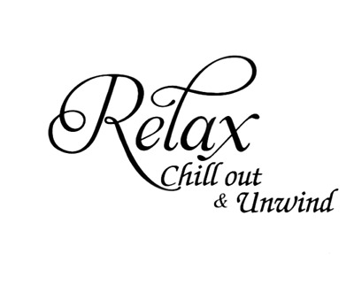 Relax Chill Out & Unwind Wall Quotes Wall Stickers Living Room UK 139 • 4.30£