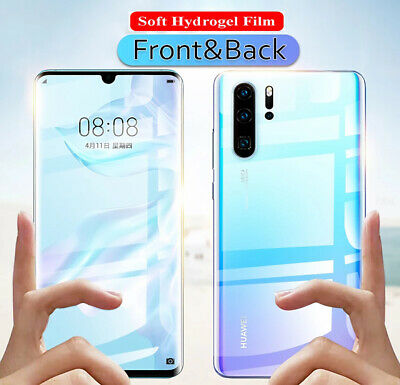 Front Back  Hydrogel Film Cover Screen Protector For Huawei P30 Pro Mate 20 Pro • 6.60£