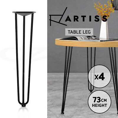 AU39.95 • Buy Artiss 4x Coffee Dining Table Legs Hairpin Steel Industrial Desk Bench 3Rod 73CM