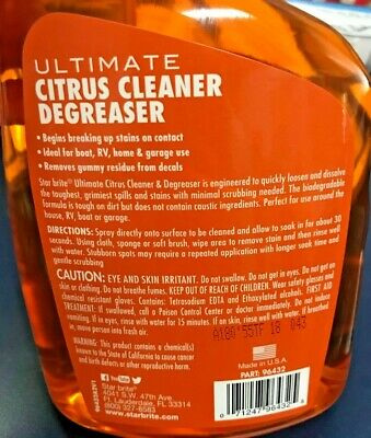 Starbrite Ultimate Citrus Cleaner & Degreaser 32 Ounce Remove Grime Dirt Grease • 16.09£