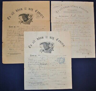 Civil War Discharge Documents - POW / 5th NY Cavalry Soldier • 149.99$
