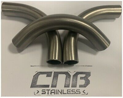 90 Degree 3D Long Elbow Stainless316 Dull Polish Mandrel Bend Exhaust 3XDiamiter • 7.68£