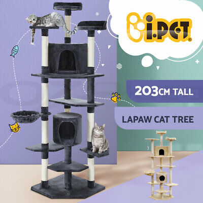AU84.90 • Buy I.Pet Cat Tree Trees Scratching Post Scratcher Tower Condo House Furniture 203cm