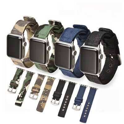 $ CDN9.24 • Buy Camouflage Canvas Replacement Watch Band Strap For Apple Watch Series 1/2/3/4