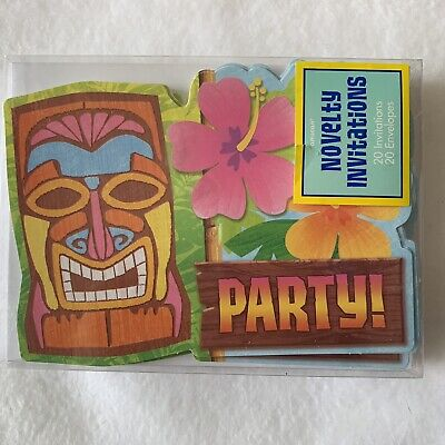 Hawaiian Tiki Luau Party Invitations • 8.49£