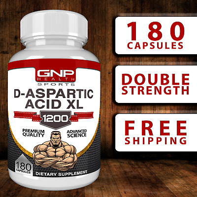 AU29.95 • Buy D-ASPARTIC ACID XL 180 CAPS - 1200mg - Testosterone | Booster | PCT | Muscle DAA