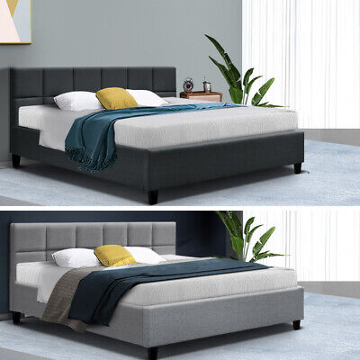 AU179.95 • Buy 20%OFF Bed Frame Queen Double King Single Mattress Base Platform Fabric TINO