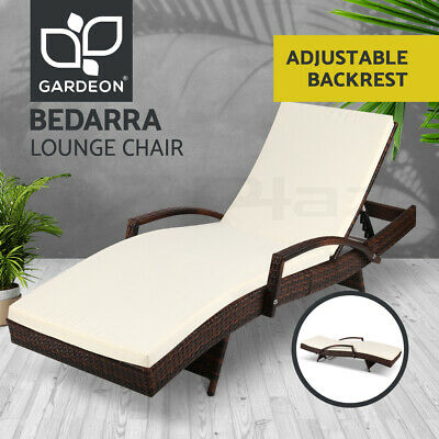 AU189.90 • Buy Gardeon Sun Lounger Wicker Lounge Outdoor Furniture Rattan Chair Garden Patio