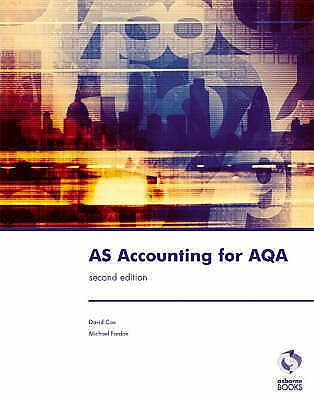 £12.50 • Buy AS Accounting For AQA