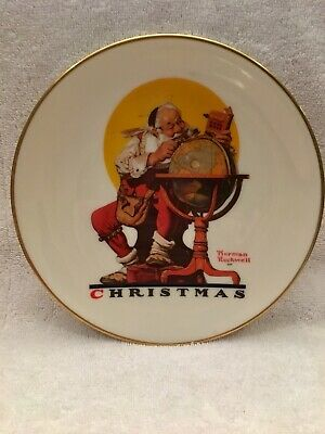 $ CDN11.77 • Buy Gorham Norman Rockwell Planning Christmas Visits Collectors Plate 1978 Santa