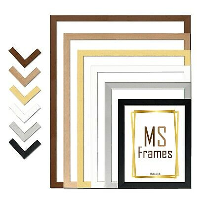 £7.85 • Buy A1 A2 A3 A4 A5 Photo Frame Picture Poster Black White Beech Silver Gold Walnut