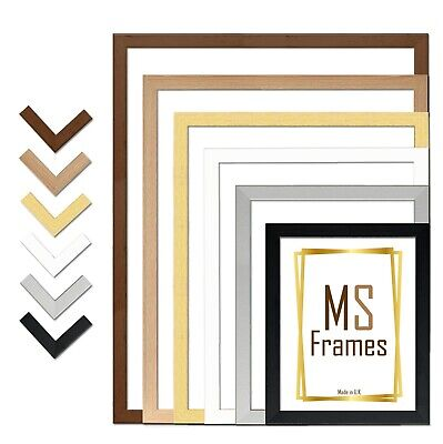 A1 A2 A3 A4 A5 Photo Frame Picture Poster Black White Beech Silver Gold Walnut • 6.45£