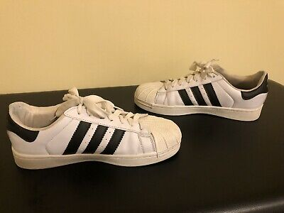 $ CDN50 • Buy Adidas Superstar Ivory Shell Toe 2015 Kids 6.5 Womens Size 7.5 - Great Condition