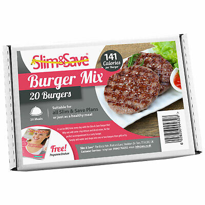£22.99 • Buy Slim&Save - 20 High Protein Meal Replacement Burger Mix - VLCD Meat Free Burgers