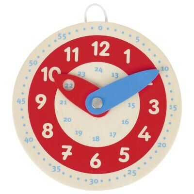 £6.49 • Buy Goki Wooden Learn To Tell The Time 10.5 Cm Clock Kids Gift Fun Learning New
