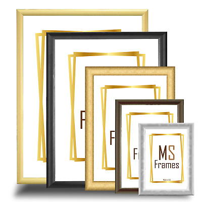 Picture Poster Photo Frame Black White Beech Silver Gold Walnut A1 A2 A3 A4 A5 • 6.65£