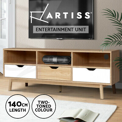 AU159.95 • Buy Artiss TV Cabinet Entertainment Unit Stand Wooden Storage 140cm Scandinavian