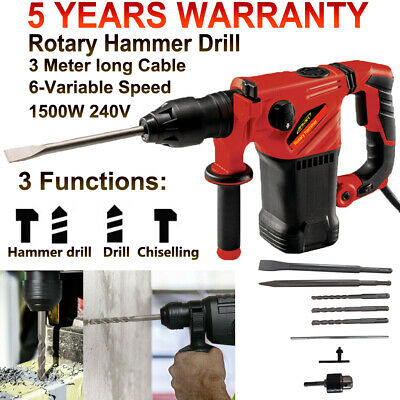 View Details Electric Rotary Hammer Drill SDS+ 240V 3 Mode Chisel Action Demolition Breaker • 53.90£