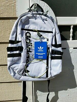 $50 • Buy NWT Brand New Authentic Adidas Originals White Bungee Backpack Laptop School Bag