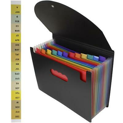 £7.99 • Buy A-Z Month A4 Concertina Expanding File Accordion Folder Organiser Wallet Pockets