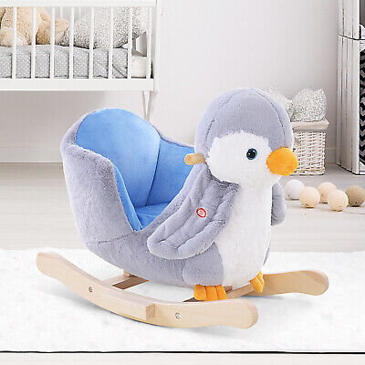 £60.99 • Buy Animal Baby Rocking Horse Penguin Plush Cute Musical Button W/32 Songs Wide Seat