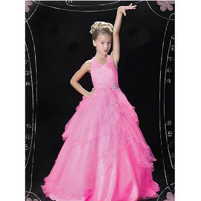 Pretty Pink Tulle Layered Ruffle Pageant Dress Toddler Girls 2T • 141.99$