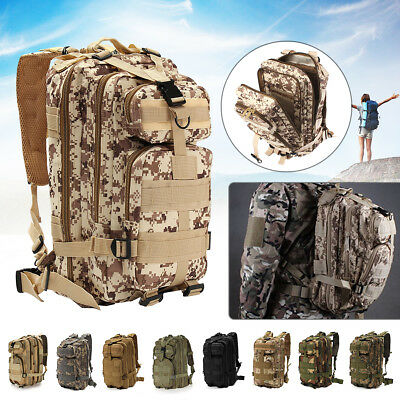 AU19.56 • Buy 35L Hiking Camping Bag Army Military Tactical Trekking Rucksack Backpack Camo