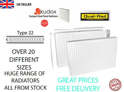 £24.95 • Buy Compact Convector Radiator White Type 22 DOUBLE Panel Central Heating PLUMBING