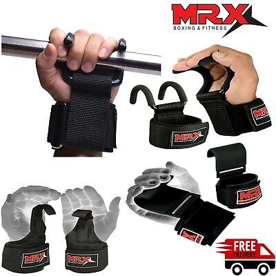 £12.36 • Buy Weight Lifting Hooks Gym Training Deadlift Wrist Support Grips Straps Wrap Glove
