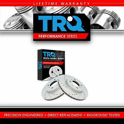 $69.95 • Buy TRQ Brake Rotor Performance Drilled Slotted G-Coated Front RH LH Pair For Honda