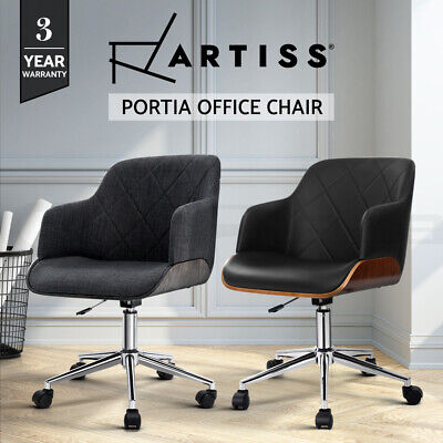 AU136.95 • Buy Artiss Wooden Office Chair Computer Gaming Chairs Fabric Chair Grey Green