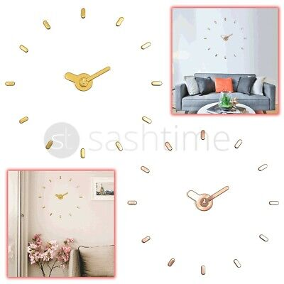 £5.95 • Buy 3D DIY Large Number Mirror Wall Clock Sticker Decor For Home Office Kids Room