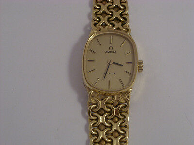 18ct Gold Omega De Ville Ladies Watch 1973 Wind Up   Second Hand • 2,479£