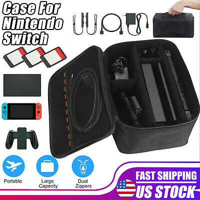 $11.47 • Buy Black Multifunctional Travel Carrying Case Bag For Nintendo Switch Accessories