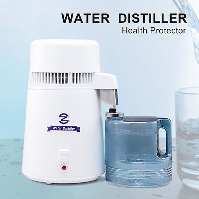 £54.59 • Buy 4L Stainless Steel Water Distiller Pure Water Filter Purifier Medical Home Labs