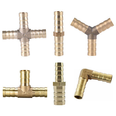 Brass Reducing Straight T X Y Elbow Pipe Hose Joiner Barbed Connector Air Water • 3.25£