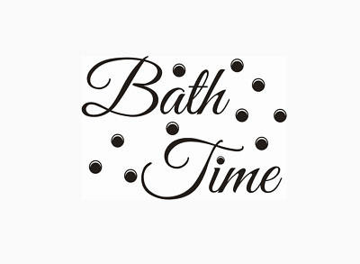 Bath Time Bathroom Wall Quotes Wall Stickers Wall Art UK 32l • 4.30£