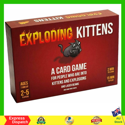 AU49.95 • Buy Exploding Kittens Card Game Family-Friendly Party Game NEW Fast Free Shipping AU
