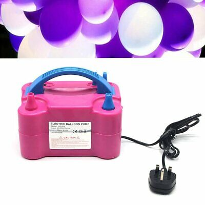£19.89 • Buy Portable Electric Balloon Inflator Pump Double Nozzles 600W Air Blower UK Plug