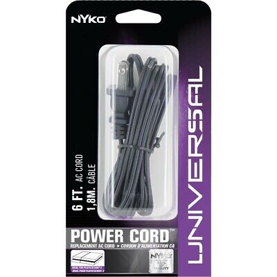 Nyko Universal Power Cord 6ft Heavy Duty For PS4, PS4 Slim, Xbox One S/X • 11.99$